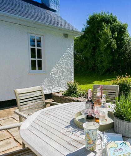 Glan Gors Felin Church Bay Anglesey outside table 1920x1080